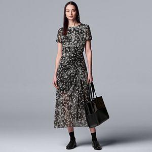 ce63f813a207 Women's Simply Vera Vera Wang Floral Chiffon Layered Peasant Dress