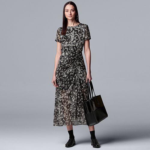Women's Simply Vera Vera Wang Ruched Maxi Dress