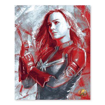 Artissimo Designs Marvel Avengers Captain Marvel Canvas Wall Art