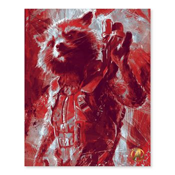 Artissimo Designs Marvel Avengers Rocket Raccoon Canvas Wall Art