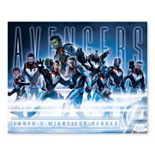 Artissimo Designs Marvel Avengers Moonlit Group Canvas Wall Art