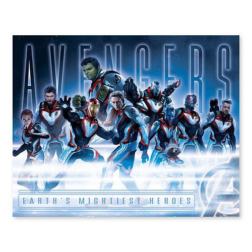 Artissimo Designs Marvel Avengers Moonlit Group Canvas Wall Art