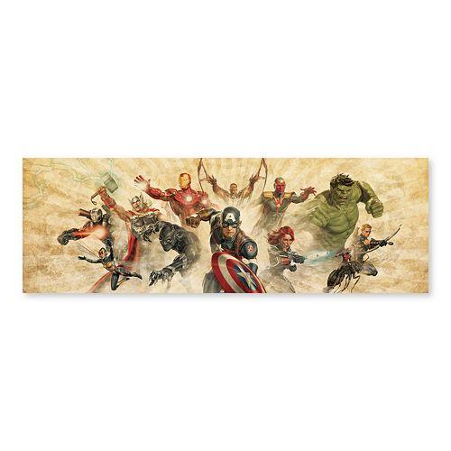 Artissimo Designs Marvel Avengers Giant Group Burst Canvas Wall Art