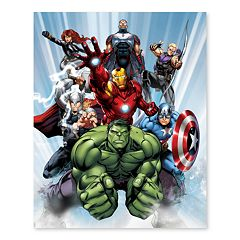 Artissimo Designs Marvel Avengers Ready For Action Canvas Wall Art