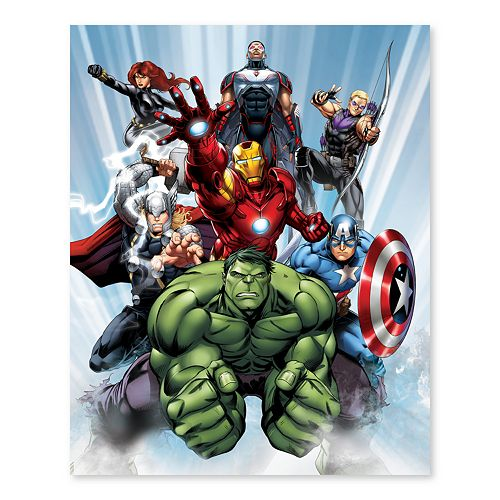 Artissimo Designs Marvel Avengers Ready For Action Canvas