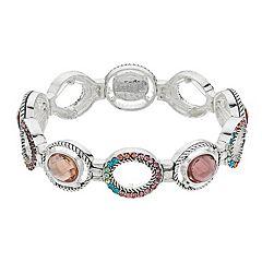 ec4316b0ca3 Napier Glass Stretch Bracelet. Multi. clearance