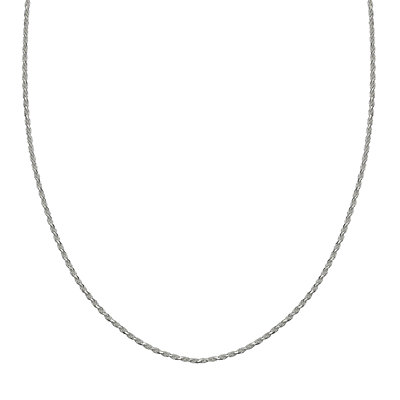 PRIMROSE Sterling Silver Adjustable Rope Chain Necklace