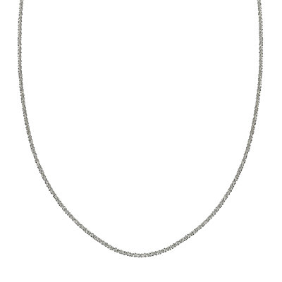 PRIMROSE Sterling Silver Adjustable Sparkle Chain Necklace