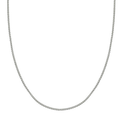 PRIMROSE Sterling Silver Adjustable Wheat Chain Necklace