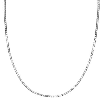 PRIMROSE Sterling Silver Adjustable Box Chain Necklace