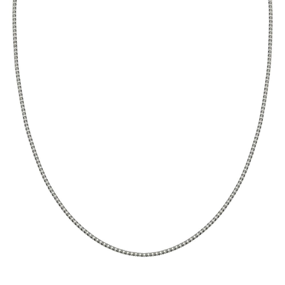 PRIMROSE Sterling Silver Adjustable Popcorn Chain Necklace