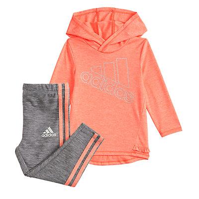 Girls 4-6x Logo Hooded Tunic & Print Leggings Set