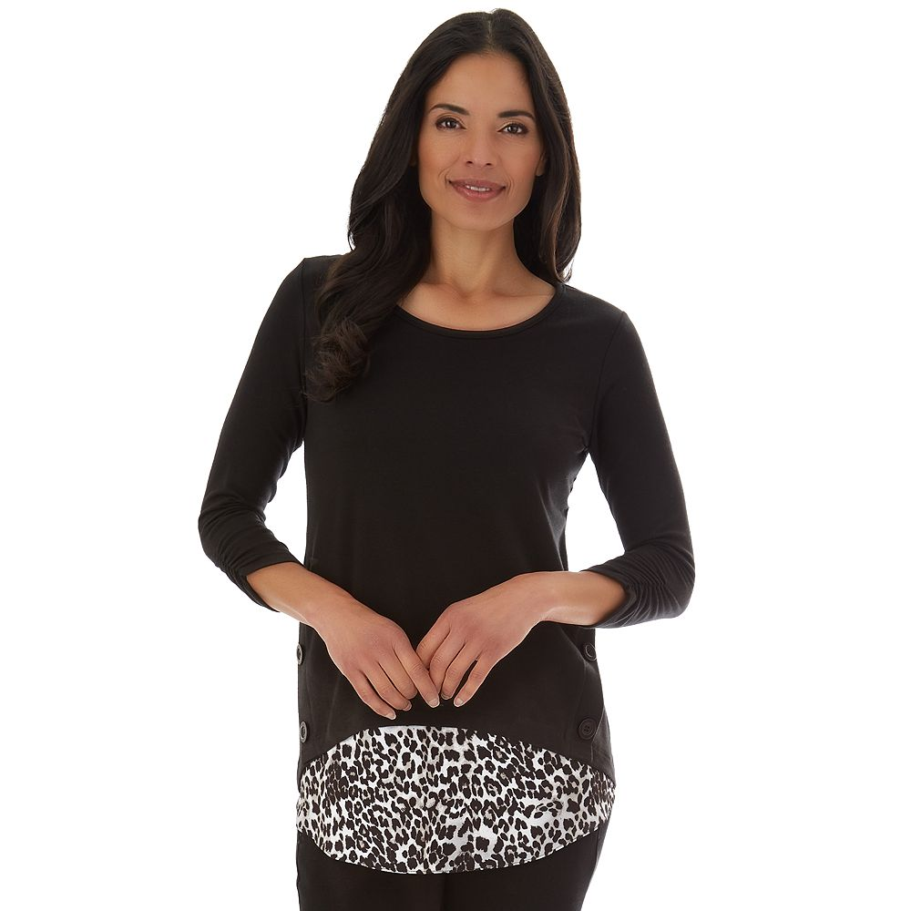 Women's Apt. 9® French Terry Button Side Top