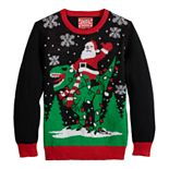 Boys 8-20 Santa Claus & Dinosaur Ugly Christmas Sweater