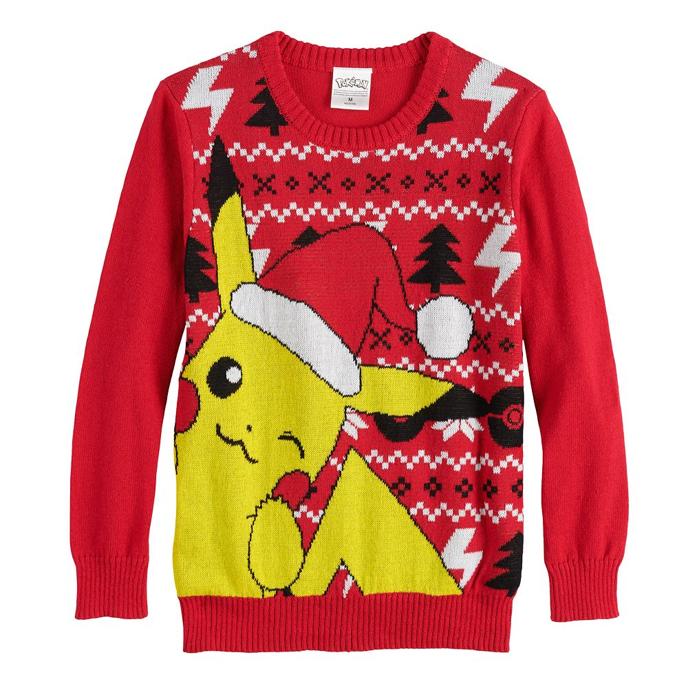 Boys 8-20 Pokemon Pikachu Ugly Christmas Sweater