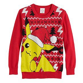 Boys 8-20 Pokemon Pikachu Ugly Christmas Sweater