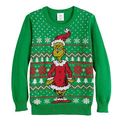 Boys 8-20 Dr. Seuss's The Grinch Who Stole Christmas Ugly Christmas Sweater