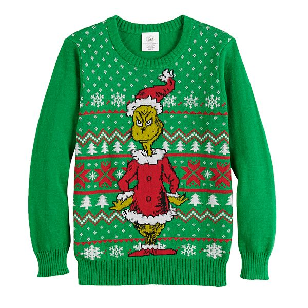 Boys 8 20 Dr. Seuss's The Grinch Who Stole Christmas Ugly Christmas Sweater