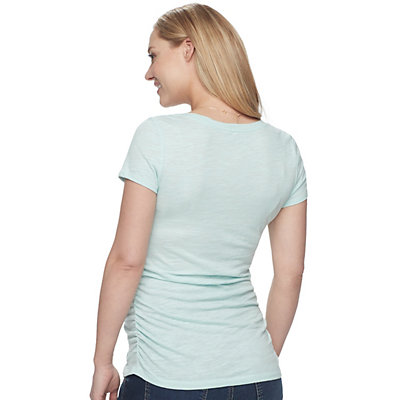 Maternity a:glow Shirred-Side Scoopneck Tee