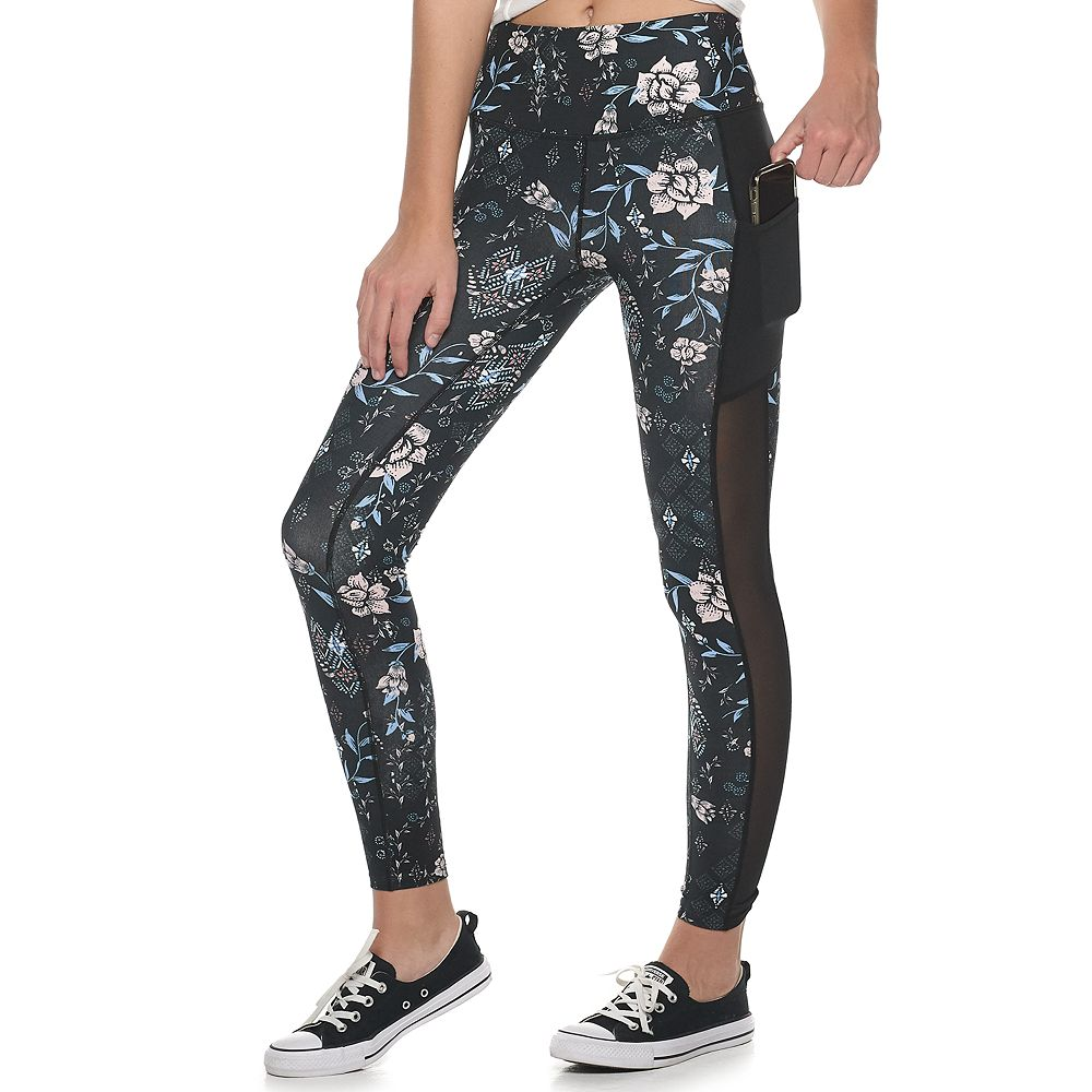 Juniors' SO® High-Waisted Mesh-Pieced Pocket Leggings