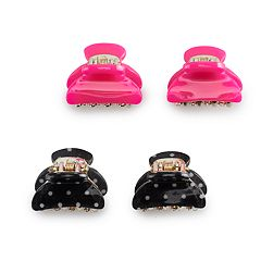 Women's SO® Acrylic Mini Claw Clips (4pk) Pink
