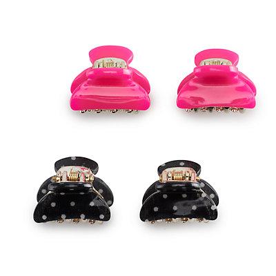 Women's SO Acrylic Mini Claw Clips (4pk) Pink