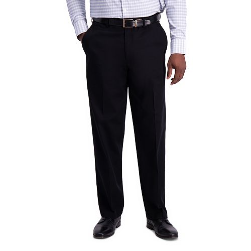 Men's Haggar® Iron Free Premium Khaki Classic-Fit Flat Front Hidden Comfort Waistband Casual Pant