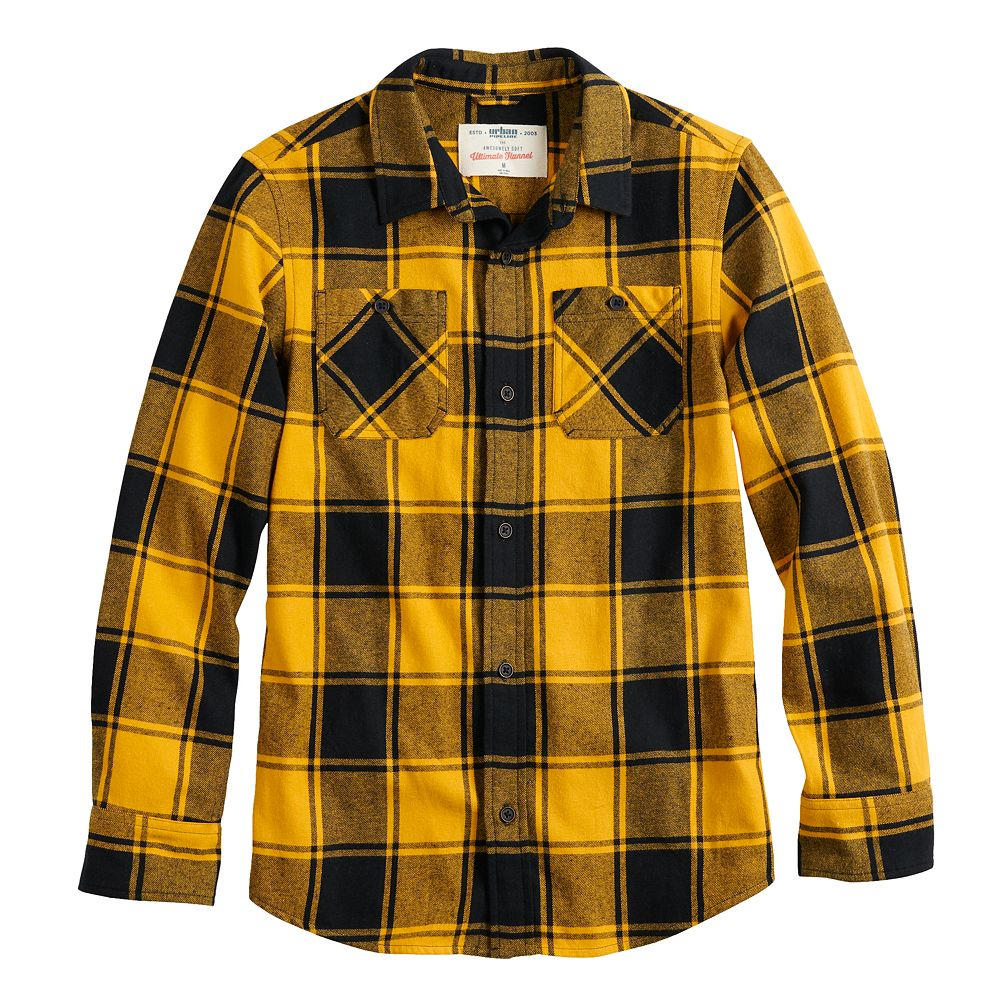 Boys 8-20 & Husky Urban Pipeline™ Flannel Button-Down Shirt