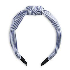 Women's SO® Striped Knot Headband