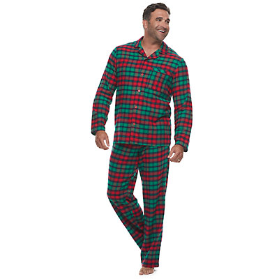 Big & Tall Jammies For Your Families Red Plaid Notch Family Flannel Pajamas