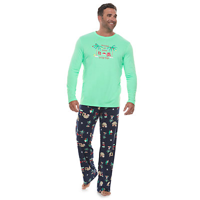 Big & Tall Jammies For Your Families Flip Flop Holiday Family Tee & Pants Pajama Set