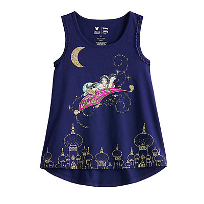 Disney's Aladdin Toddler Girl Glittery Aladdin & Jasmine Graphic Tank Top by Jumping Beans®