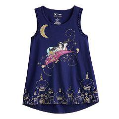 Disney's Aladdin Girls' 4-12 Glittery Aladdin & Jasmine Graphic Tank Top by Jumping Beans®