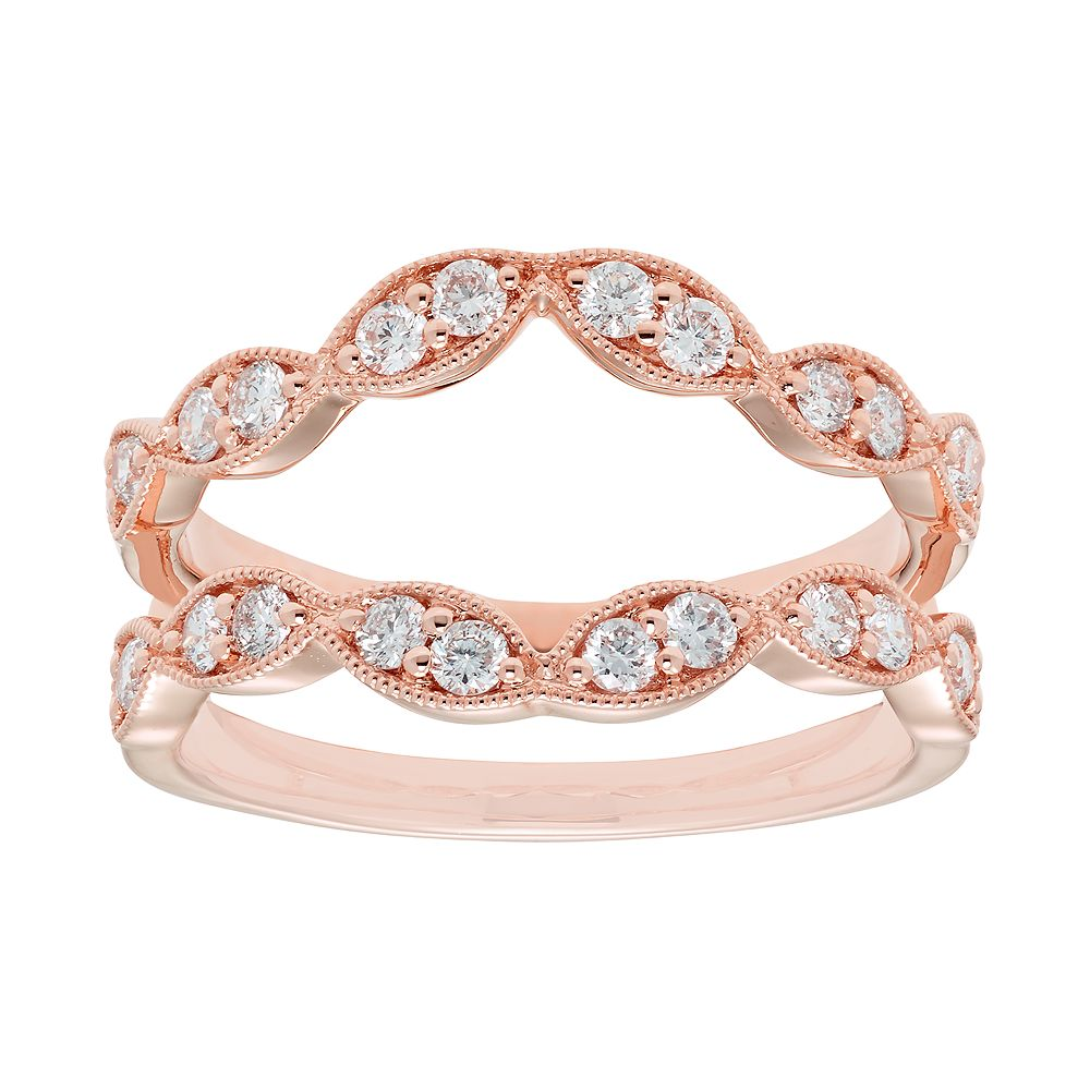 14k Gold 1/2 Carat T.W. Diamond Scalloped Enhancer Wedding Ring