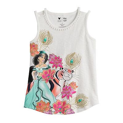 Disney's Aladdin Girls 4-12 Glittery Jasmine Graphic Tank Top by Jumping Beans®