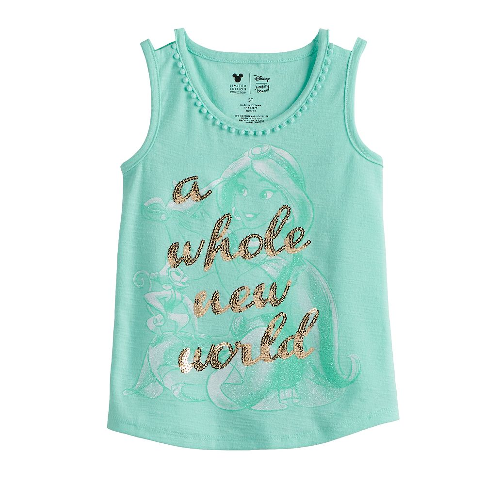 "Disney's Aladdin Toddler Girl ""A Whole New World"" Sequined Graphic Tank Top by Jumping Beans®"
