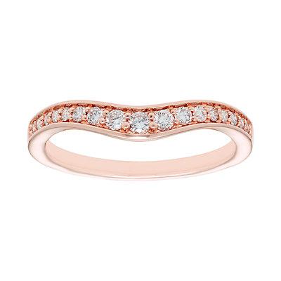 14k Gold 1/4 Carat T.W. IGL Certified Diamond Shadow Wedding Band