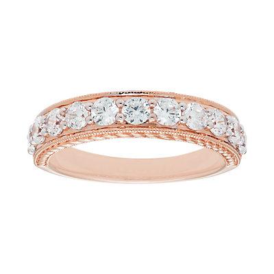 14k Gold 1 Carat T.W. IGL Certified Diamond Wedding Band