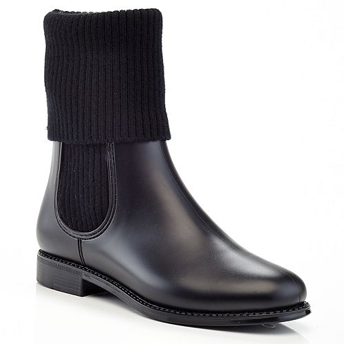Henry Ferrera Marsala Women's Sweater Rain Boots