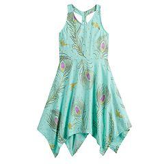 Disney's Aladdin Girls 4-12 Peacock Print Dress by Jumping Beans®