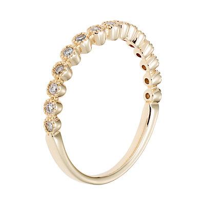 14k Gold 1/5 Carat T.W. IGL Certified Diamond Shadow Wedding Band