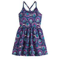 Disney's Aladdin Girls 4-12 Glittery Print Dress by Jumping Beans®