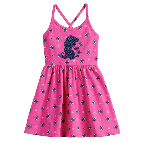 Disney's Aladdin Girls 4-12 Glittery Graphic Dress by Jumping Beans®