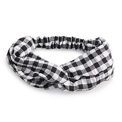 Women's SO® Plaid Flannel Head Wrap