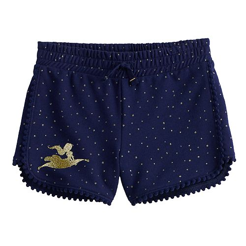 Disney's Aladdin Girls 4-12 Glittery Jasmine French Terry Shorts by Jumping Beans®