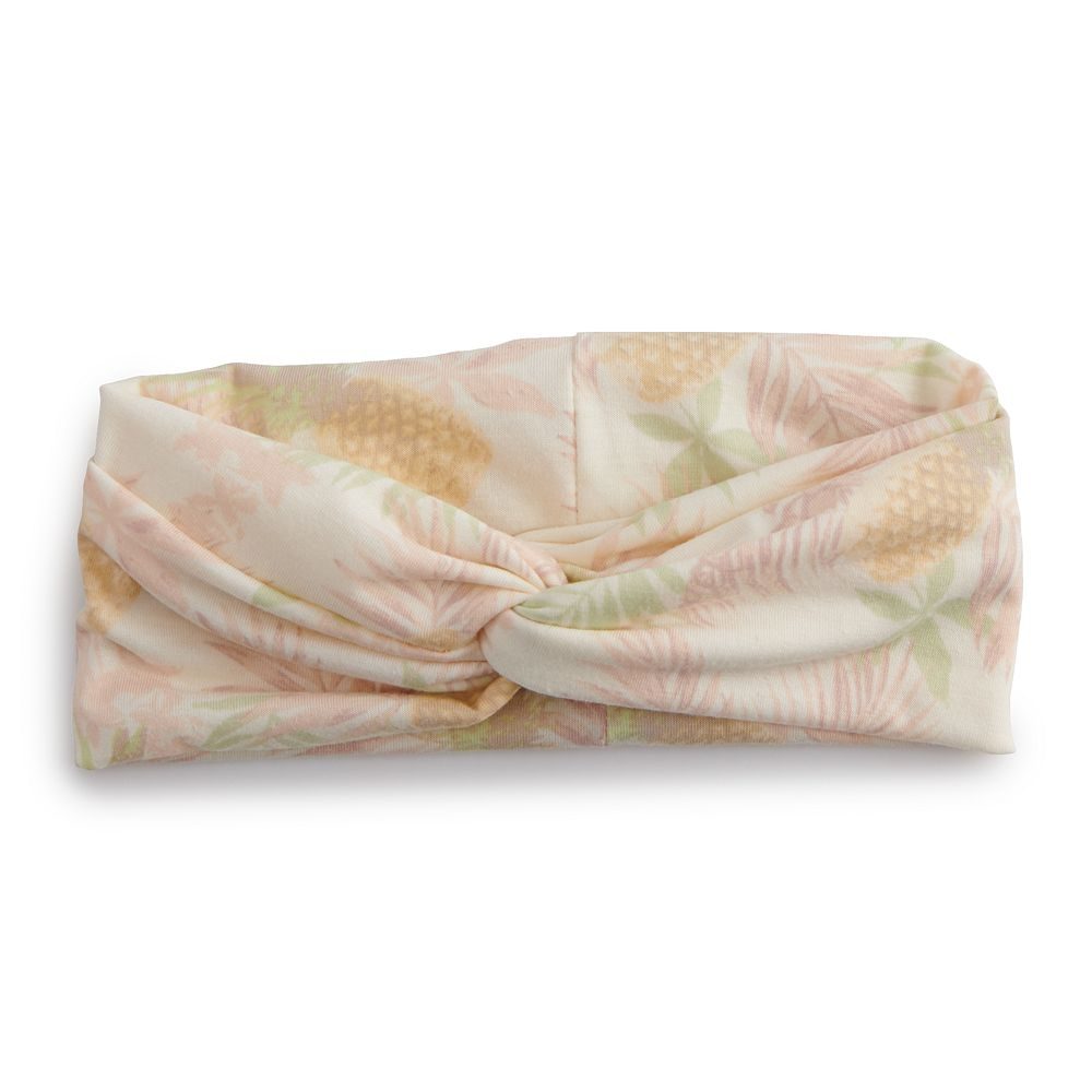 Women's SO® Pineapple and Leaves Head Wrap