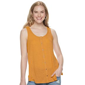 Women's SONOMA Goods for Life? Button-Front Swing Tank