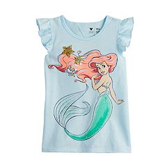 0345f10e Disney's The Little Mermaid Ariel Girls 4-12 Flip-Sequin Graphic Tee by  Jumping
