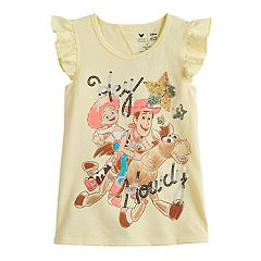 8b05967a1 Disney / Pixar Toy Story Woody & Jessie Girls 4-12 Sequined Graphic Tee by