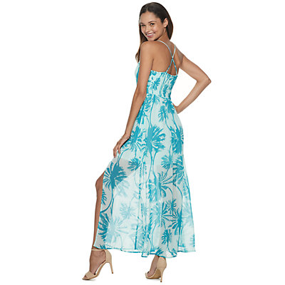 Juniors' Candie's® Chiffon Maxi Dress